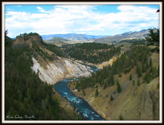 Gardiner River in Yellowstone National Park