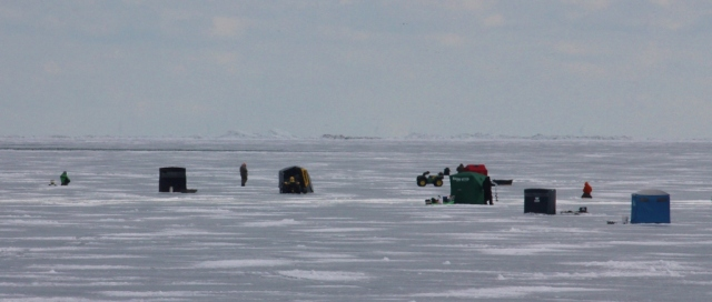 Ice fishing village on Lake St. Clair. Now THAT'S nuts!