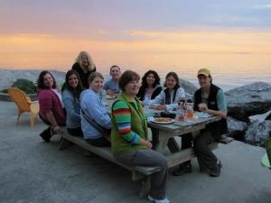 New Mexican dinner on Lake Erie at sunset....thanks, Linda!