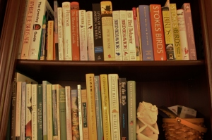 My birding field guides and some general nature narratives