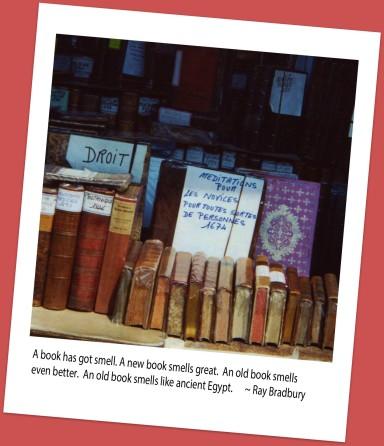 Paris bookstall - Ray Bradbury quote added