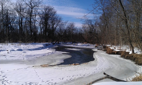 Partially thawed Clinton River