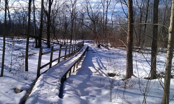 Footbridge to the river