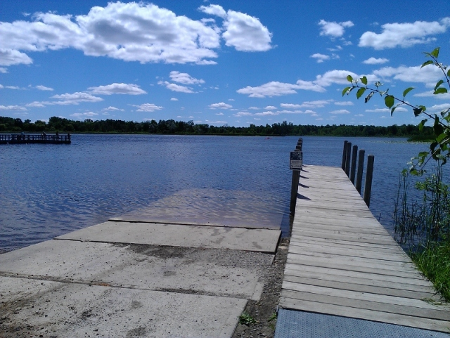 View of Lake Sixteen from boat launch
