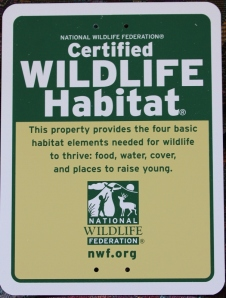 Certified Wildlife Habitat sign for our yard (605x800)