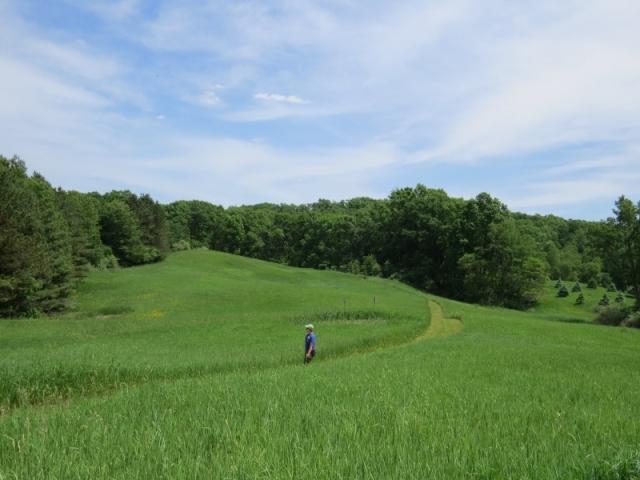 Me on the trail at Otis Farm