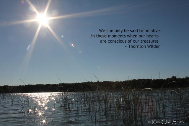Thornton Wilder quote on my photo