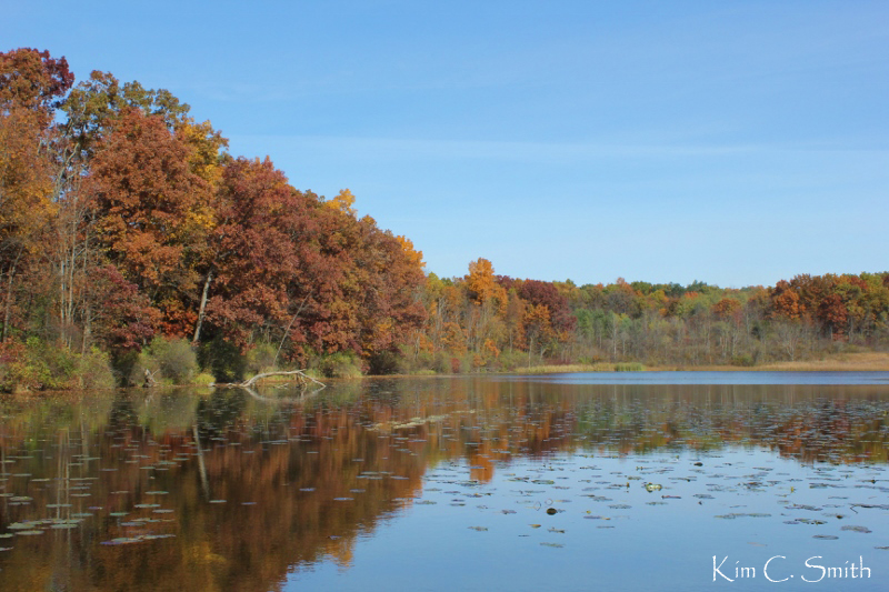 Algoe Lake in Ortonville SRA - with fall foliage w sig