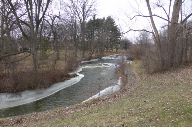 Paint Creek in city park
