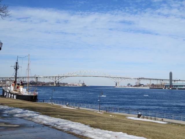 Blue Water Bridge between Port Huron and Sarnia, Ontario