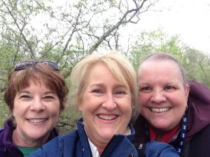 Me, Kelly, and Janet at Magee Marsh on the day we saw the Northern Parula