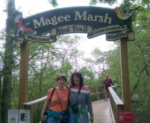 My sister and I at Magee Marsh