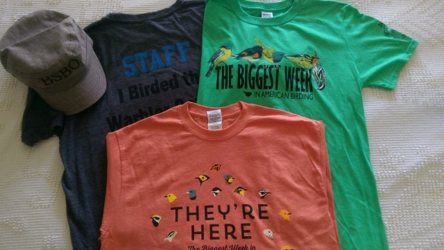 My t-shirts for the 2015 Biggest Week in American Birding!