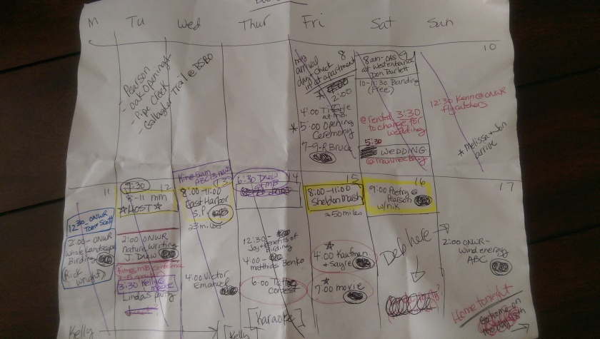 My BW schedule crumpled after a long week