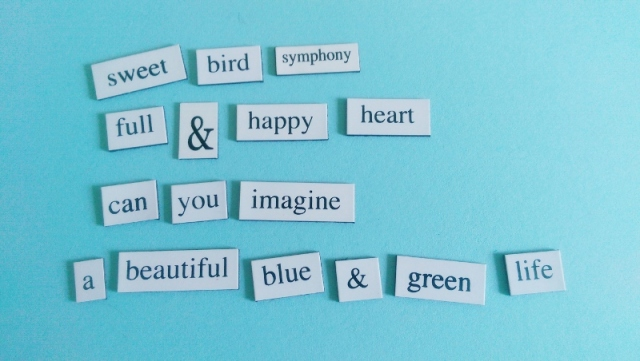 Expressing my happiness with magnetic poetry