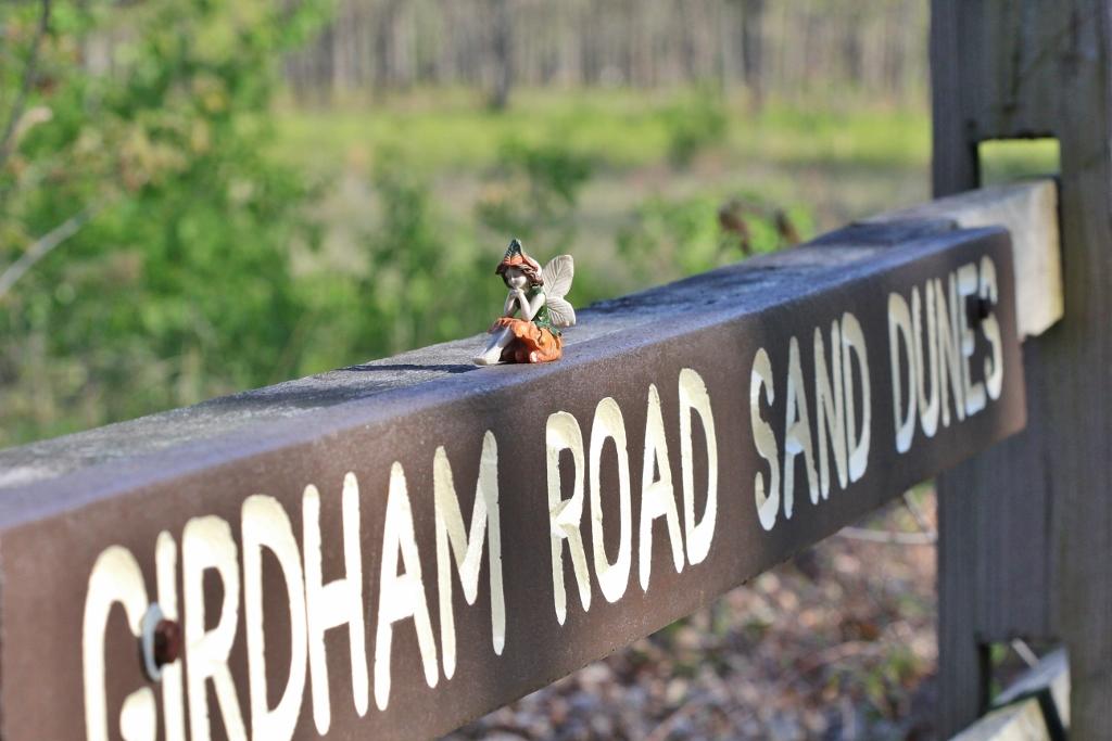 Girdham Road Sand Dunes sign with fairy (1024x683)