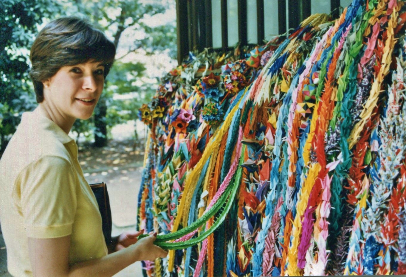 Chains of origami cranes