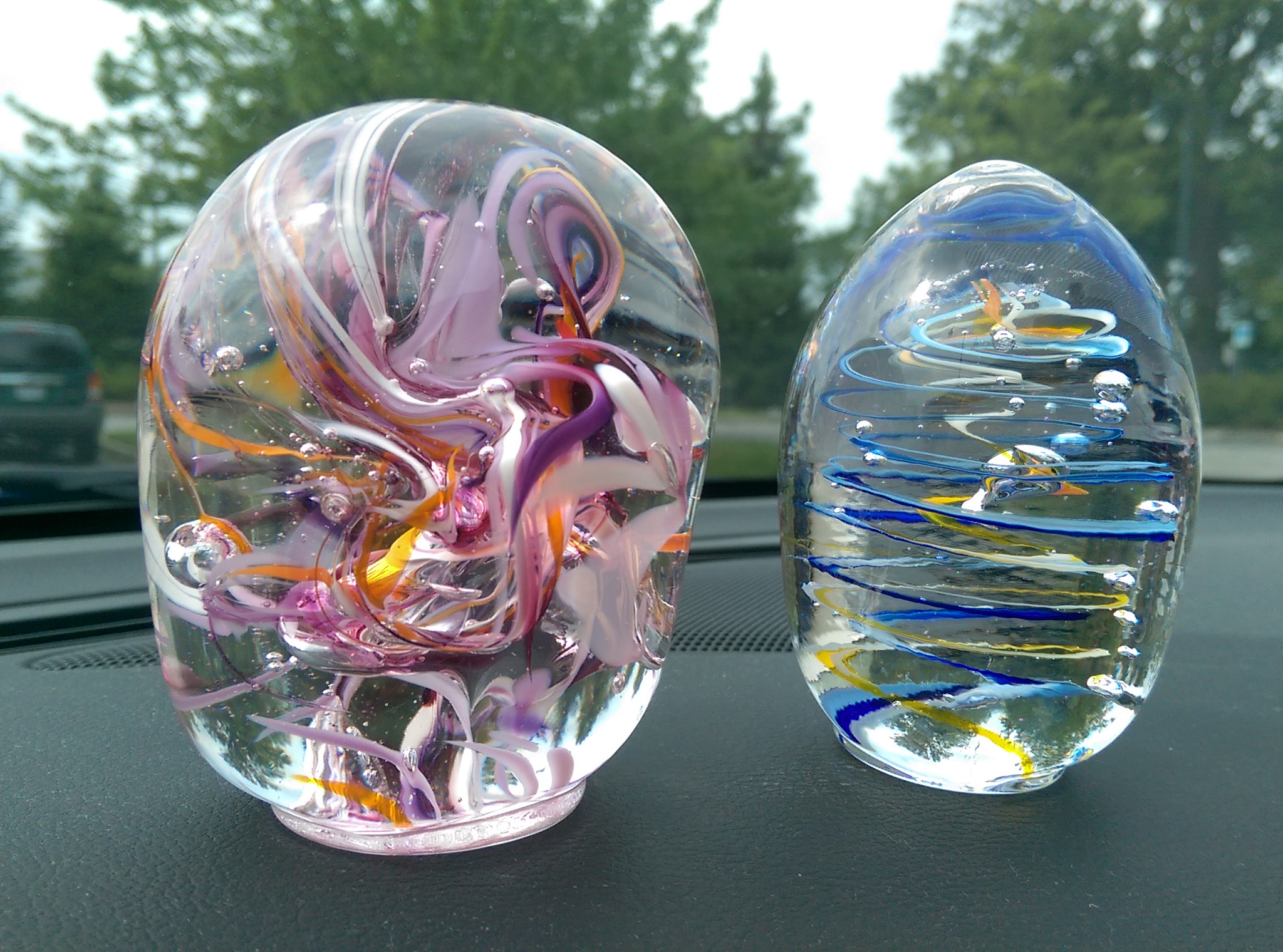 Glass Paperweights by Kim