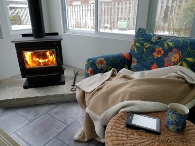 Fire in woodstove - blog