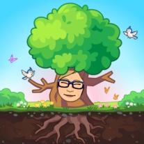 Spring tree birds avatar - blog